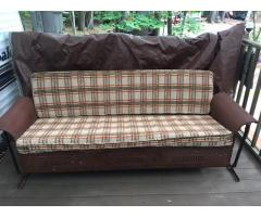 Antique couch glider and chairs